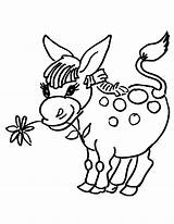 Donkey Coloring Pages Flower Donkeys Head Drawing Printable Supercoloring Getdrawings Coloring2print sketch template