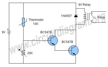 Temperature Sensor Relay Switch Circuit Under Repository