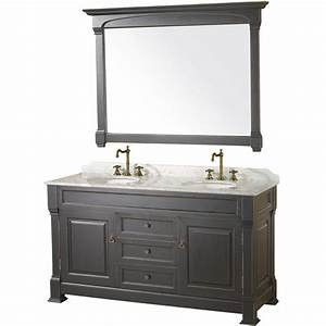 "60"" Andover-60 Black Bathroom Vanity :: Bathroom Vanities"