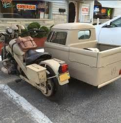 Motorcycle with Sidecar VW Van