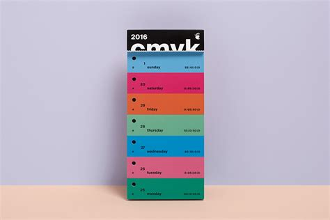 Typo Kalender 2016 by Color Swatch Calendar 2016 Slanted Typo Weblog Und Magazin