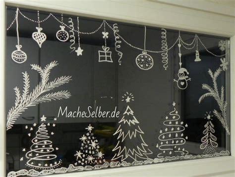 Weihnachtsdeko Fenster Kreidemarker by Weihnachtsdeko F 252 R Fenster Dekoidee