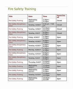 safety training calendar template hospinoiseworksco With safety training calendar template