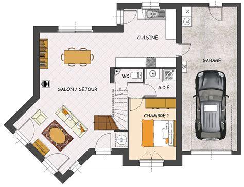 plan maison plain pied 3 chambres 1 bureau construction maison neuve palmyre lamotte maisons