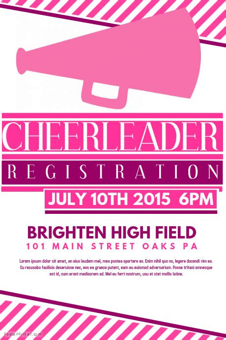 cheerleading flyer template postermywall