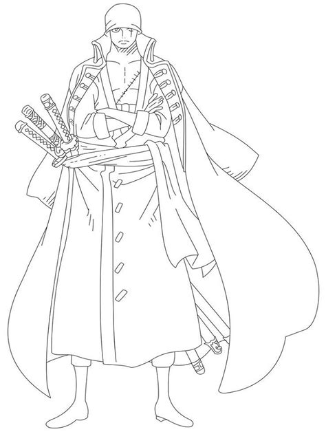 zoro coloring pages coloring home