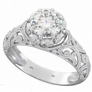 vintage style floral discovery solitaire engagement ring With wedding ring vintage style