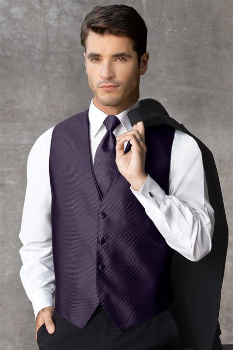 synergy eggplant vest jims formal wear