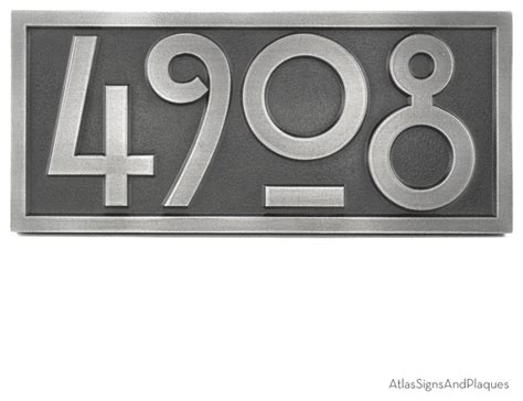 craftsman house numbers stickley numbers only 16 quot x 7 quot in pewter finish