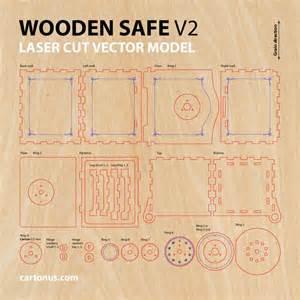wooden safe version 2 0 vector model project plan for laser cutting http cartonus safe