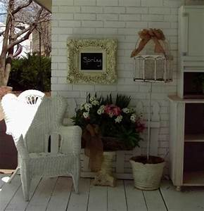 White Painted Brick Exterior and a Shabby Cottage Chic Trailer