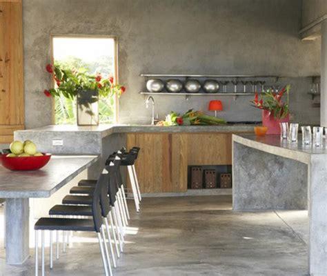 beton cuisine ilot central en béton ou l accent industriel dans notre