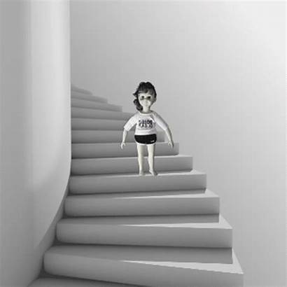 Stairs Animated Playing Try Don Dont