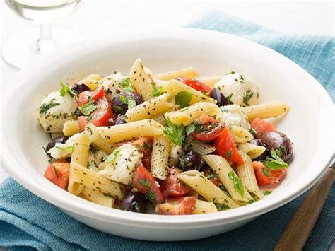 penne  baby mozzarella tomatoes  herbs recipe