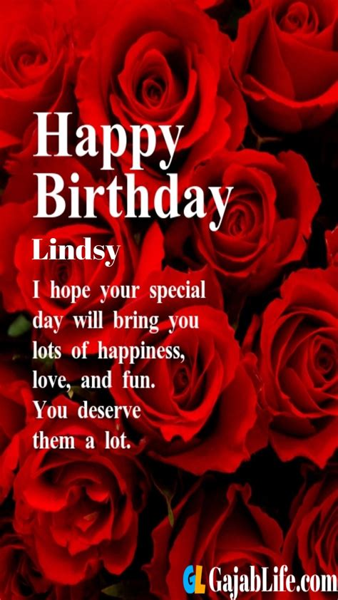 happy birthday greeting card lindsy  rose love