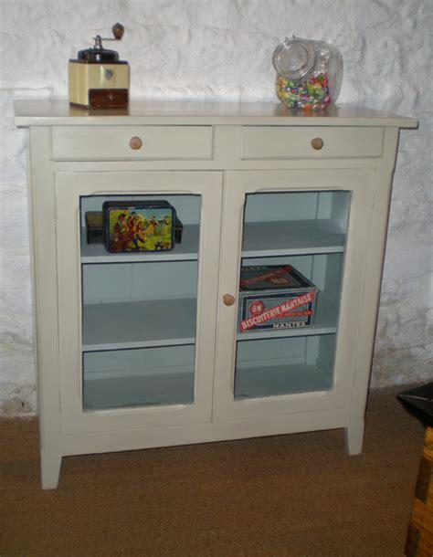 joli petit meuble ancien en bois peint pour cuisine ou