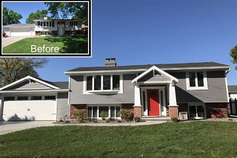 pin  tracy marshall  home decorating ranch house exterior home exterior makeover split