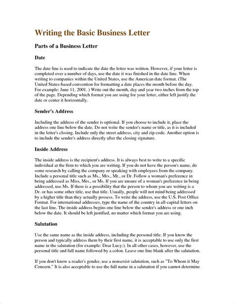 letter writing format 6 business writing sle procedure template sle 28613
