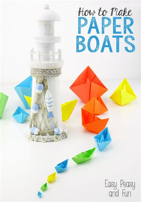 How To Fold A Paper Boat Easy by How To Make A Paper Boat Origami For Easy Peasy