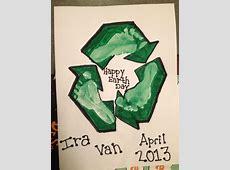Earth day baby footprint art! Baby Art Pinterest See