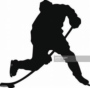 Hockey Slapshot Silhouette Vector Art | Getty Images