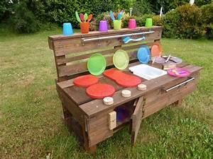 Kinderküche Aus Holz : palettenm bel kinderk che l aus holz f r garten ~ Orissabook.com Haus und Dekorationen