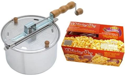 popcorn whirley pop popper stovetop silver poppers