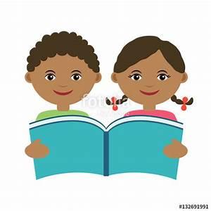 Child Reading A Book Vector | www.pixshark.com - Images ...