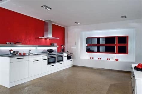 modern red white kitchen design stylehomesnet