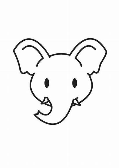 Elephant Head Coloring Pages Printable
