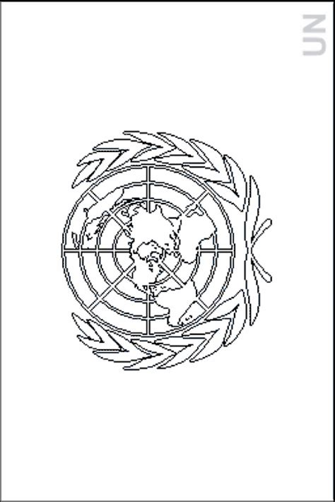 colouring book  flags international organizations