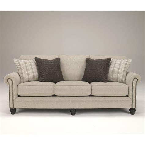 Linen Sofa by Milari Linen Sofa Signature Design Furniture Cart