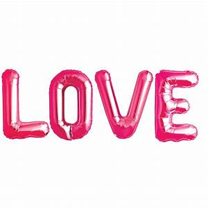 love metallic letters by bubblegum balloons With i love you balloons letters