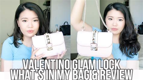 Valentino Rockstud Glam Lock Bag ♡ What's In My Bag