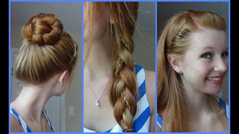 simple quick  easy   school hairstyles youtube