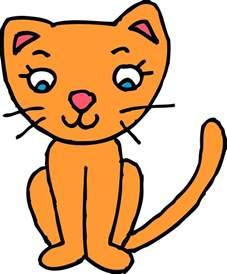 cat clipart orange kitty cat clipart free clip