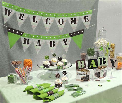 ideas for baby shower decorations camouflage baby shower ideas baby ideas