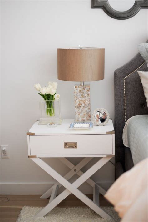 Bedroom Table Ls by Inspire Q Neo White Accent Table With X Leg Nightstand