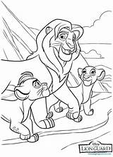 Guard Coloring Pages Lion Printable sketch template