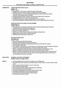 Devops consultant resume samples velvet jobs for Devops consultant resume