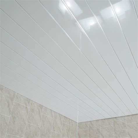 Bathroom Ceiling Panels by Gloss White Chrome Bathroom Wall Cladding White