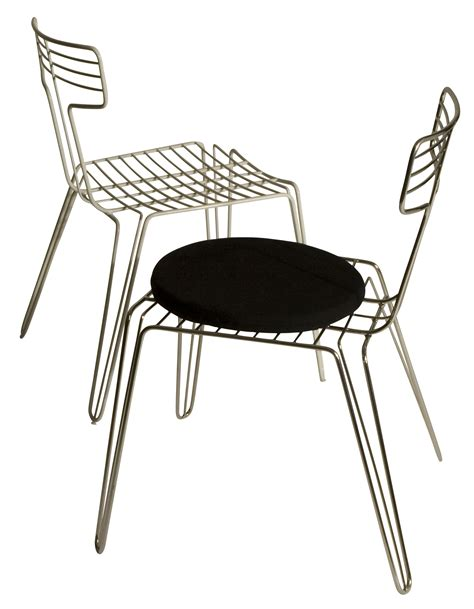 wire chair metal seat cushion steel by tom dixon