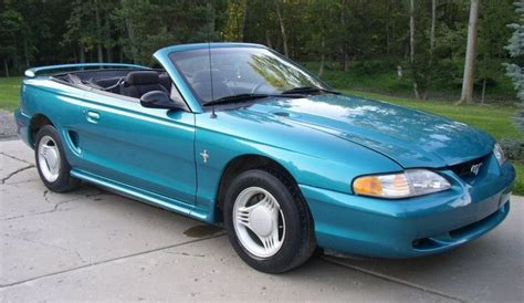 teal blue  ford mustang convertible mustangattitude