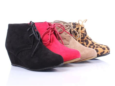 Hell Shoes : New Faux Suede Lace Up Girls Wedge High Heels Kids Ankle