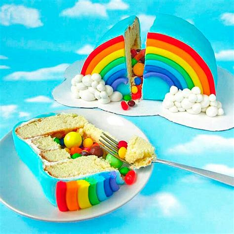 cuisine et vin recette piñata cake arc en ciel pinata cake 12 gâteaux