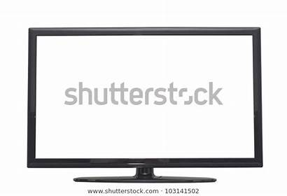 Screen Computer Isolated Flat Monitor Outline