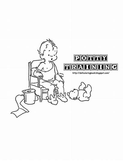 Potty Training Scrapbook Coloring Directly Largest