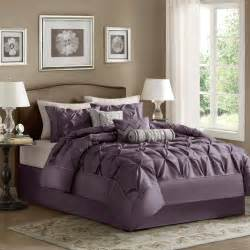 madison park laurel comforter set color plum size queen mp10 254