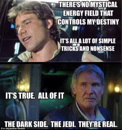 Han Solo Memes - star wars the force awakens trailer sends social media into meltdown daily mail online