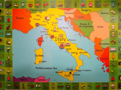 kids map  italy